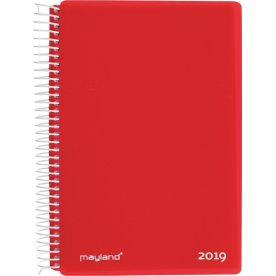 Mayland Spiralkalender, dag, rød