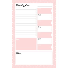 Mayland Weekly Plan, to-do liste blok, 150x230 mm