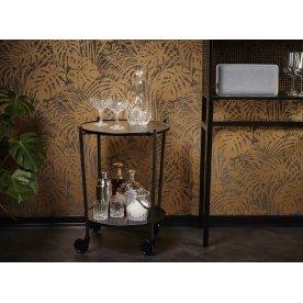 ROLLit bakkebord, sort metal, H.63xØ55 cm