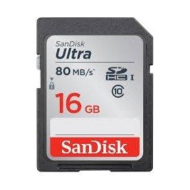 SanDisk Ultra UHS-I SDHC hukom.kort, 16GB
