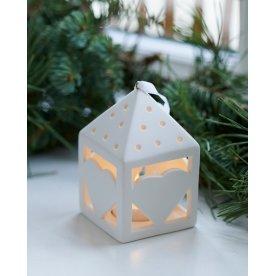 Olina LED lanterne, Hjerte, Hvid