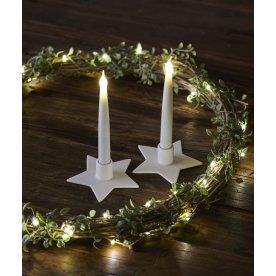 Olina LED lys, Stjerne, Hvid, 2 stk.