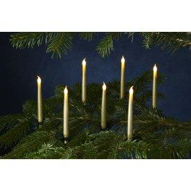 Carolin juletræslys, H 15 cm, Guld, 10 stk.