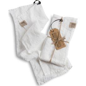 Lovely Linen Hamman håndklæder - hvid, 2 stk.