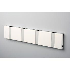 KNAX 4 knagerække, vandret, hvid/grå