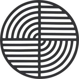 Zone Circle bordskåner, black