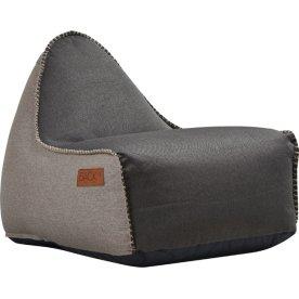 RETROit Canvas sækkestol, Mørkebrun/Sand