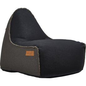 RETROit Canvas sækkestol, Sort/Mørkebrun
