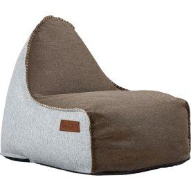 RETROit Cobana sækkestol uden håndtag, Brun/Hvid