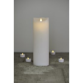 Sara LED vokslys, Hvid H 30 cm