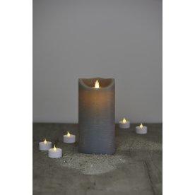 Sara LED vokslys, Antracit, H 20 cm