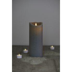 Sara LED vokslys, Antracit, H 25 cm