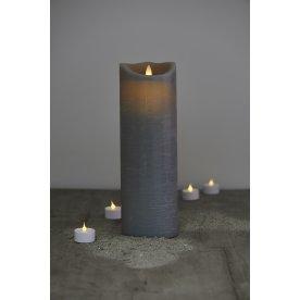 Sara LED vokslys, Antracit, H 30 cm