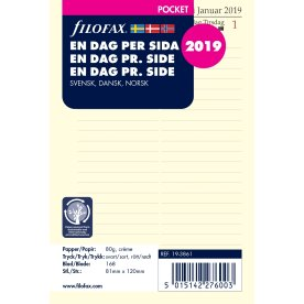 Filofax Refill Pocket Dag/Side, 2019