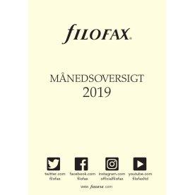 Filofax Refill Pocket Månedsoversigt, 2018