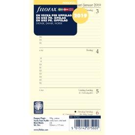 Filofax Refill Personal Uge/opslag, 2019