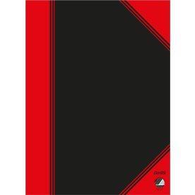 Kinanotes A6, linjeret, sort/rød