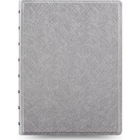 Filofax Notesbog Byg-Selv A5, sølv