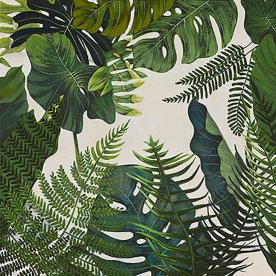 Mixed Media, Botanic, 80x80 cm