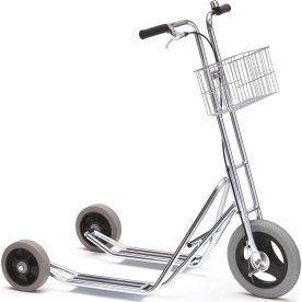 Lagerløbehjul m/ 3 hjul og kurv