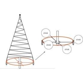 Bottom cross til LED juletræ på asfalt/fliser