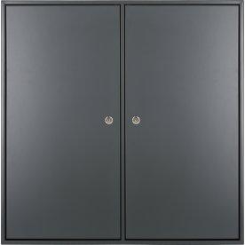 HAVANA skab m/4 rum, 2 låger, D34 Dark Grey m/lås