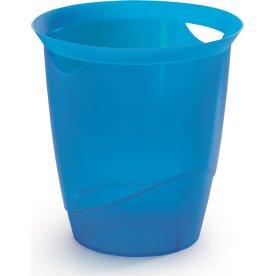 Durable Trend Papirkurv, transparent blå
