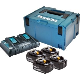Makita Batteripakke, 4 x BL1840B + DC18RD