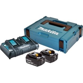 Makita Batteripakke, 2 x BL1850B + DC18RD