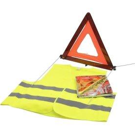 Sikkerhedssæt med 3 dele og opbevaringstaske
