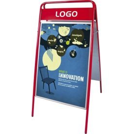 "Gadeskilt ""Expo Sign"", 59,4 x 84,1 cm, Rød"