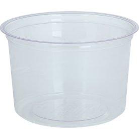Komposterbar Deli beholder, klar, PLA, 470 ml