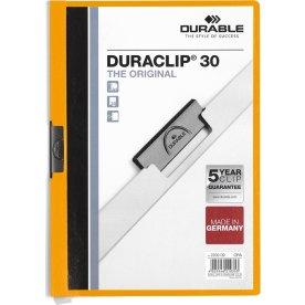 Durable Duraclip 30 Klemmappe, orange