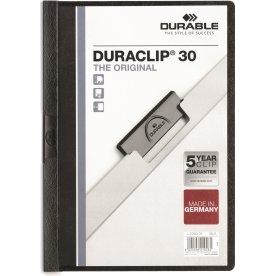 Durable Duraclip 30 Klemmappe, sort