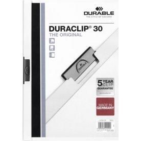 Durable Duraclip 30 Klemmappe, hvid