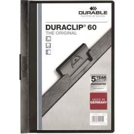 Durable Duraclip 60 Klemmappe, sort