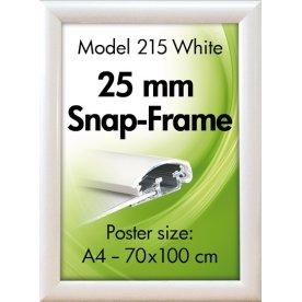 Alu Plakatramme, Snap-frame, A4, Hvid