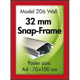 Alu Plakatramme, Snap-frame, A3, Rød