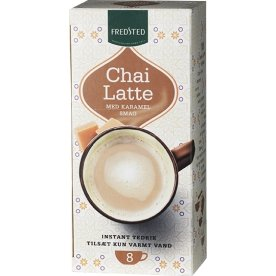 Fredsted Chai Latte karamel instant te, 8 sticks