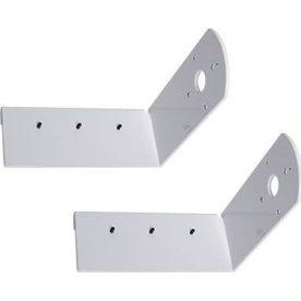 Vægmonteringsbeslag til lærred, 30 cm, hvid