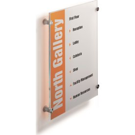 Durable Crystal Sign Skilt 297 x 420 mm (A3 høj)