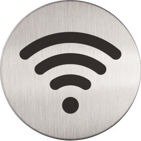 Durable Skilt Rundt WiFi