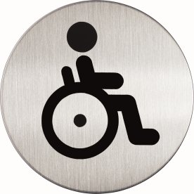 "Durable pictogram ""Handicap toilet"""