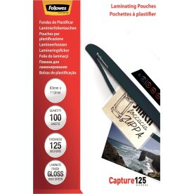 Fellowes Capture 125 mic 83x113mm Lamineringslomme