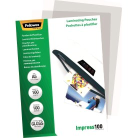Fellowes Impress 100 mic A5 lamineringslomme gloss