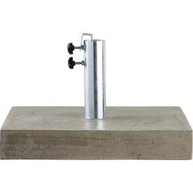 Parasolfod 50x50 i beton, Grå
