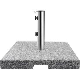 Parasolfod 50x50 i granit, Grå
