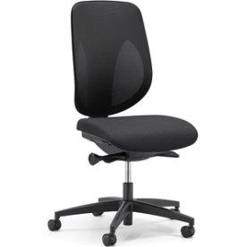 Giroflex 353 kontorstol, sort med netryg