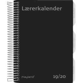 Mayland A5 Lærerkalender, uge, højformat, fiberpap