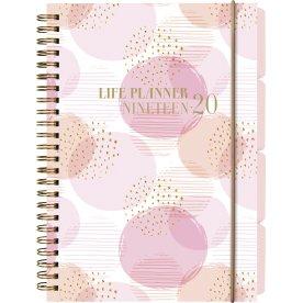 Mayland Life Planner A5, pink, studiekalender, uge